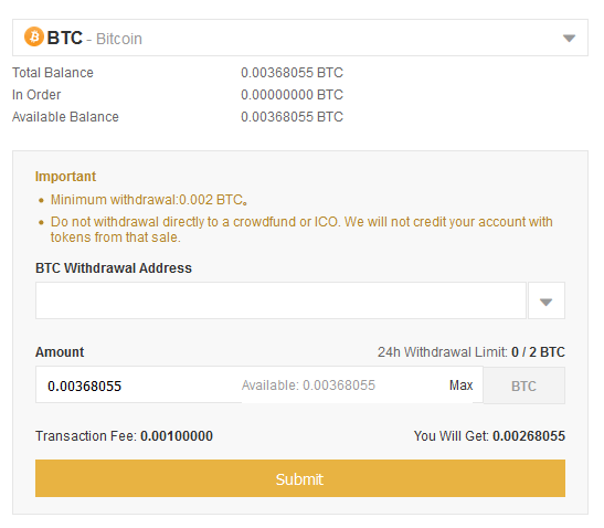 Binance Bitcoin naar hardware wallet overmaken.png