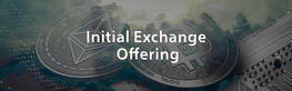 IEO Initial Exchange Offering achtergrondafbeelding, hero header