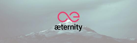 Aeternity AE coin achtergrond wallpaper