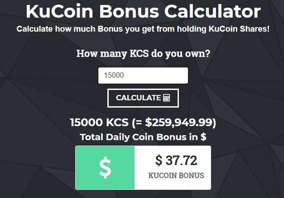 Kucoin bonus calculator