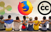 XRP Mozilla Creative Commons holding hands