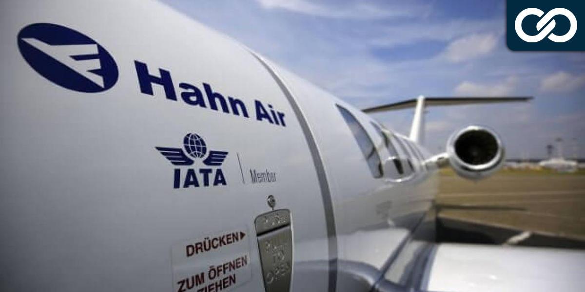 Hahn Air vliegtuig